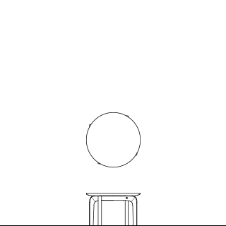 LISCIO/Circle Low Table 42