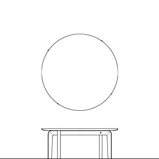 LISCIO/Circle Low Table 84